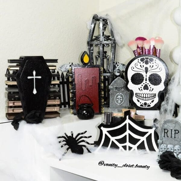 The Spooky Collection Themed Makeup Organizers