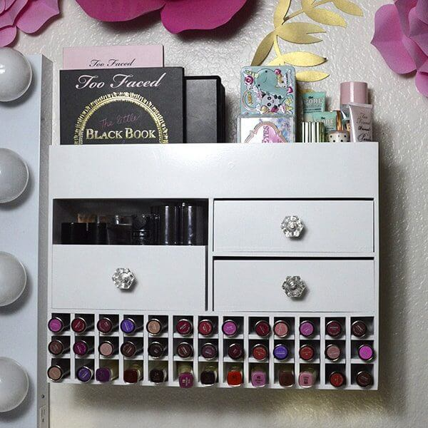 Large Wall Mounted Makeup Organizer