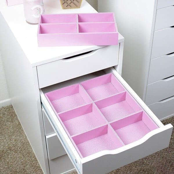 8 piece drawer makeup organizer collection for ikea alex drawers. Black Bedroom Furniture Sets. Home Design Ideas